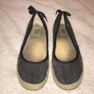 Ladies Ugg Brand Canvas Slip-on Shoes